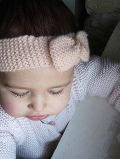 tricoter headband bebe