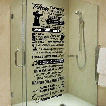Adesivo De Box Banheiro Musica Ratinho Adesivo Para Banheiro