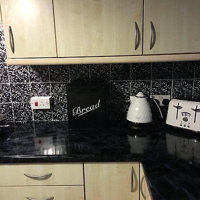 Black Marble Kitchen Worktop Covering Vinyl Self Adhesive Wrap