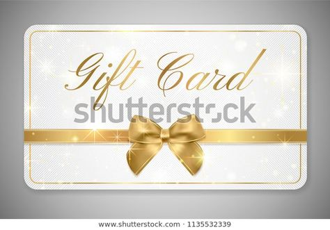 Gift Card Gift Card Discount Gift Coupon With Golden Ribbon