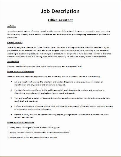 Job Description Templates 10 Printable Pdf Word Formats Job Description Template Job Description Template Word