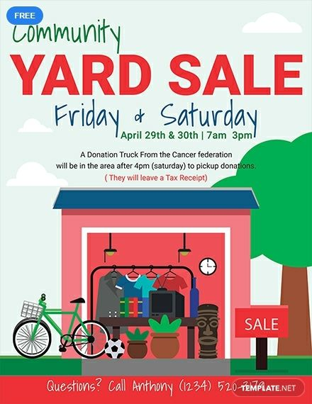 This Yard Sale Flyer Template Helps One Advertise The Selling Of A Few Things From Their Own Home Perfect For Those Who Sale Flyer Flyer Template Sale Poster