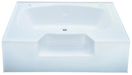 Kinro Permalux 40 In X 54 In Mobile Home Tub With Rear Center