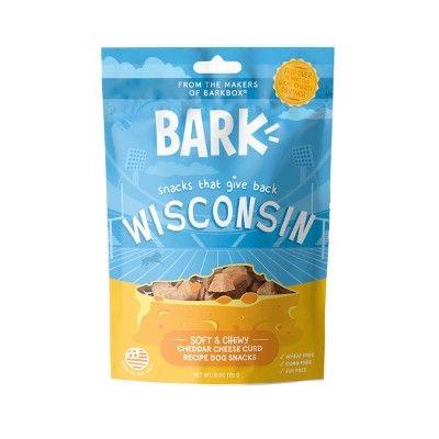 Bark Wisconsin Cheddar Cheese Curd Cheese Dog Treat 6oz