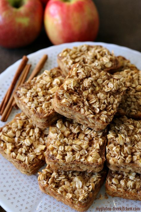 Gluten Free Apple Cinnamon Baked Oatmeal Squares Recipe Baked