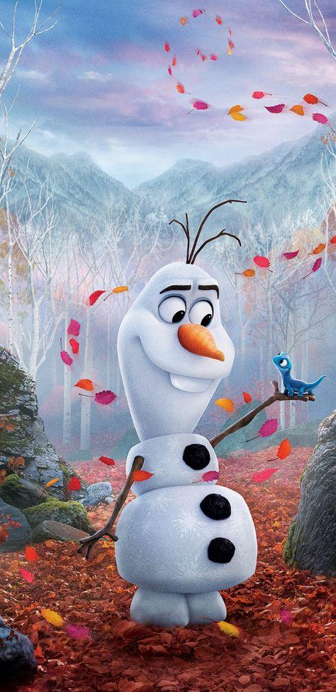 Snowman, Olaf from frozen 2, movie, 1440x2960 wallpaper