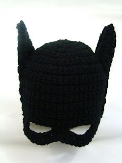 Crochet Kids Batman Hat! i wish davis had one of these when he was a kid