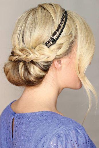 24 Herrliche Ideen Fur Effektvolle Frisuren Mit Haarband Haarband Frisur Haarband Frisur Anleitung Frisur Mit Band