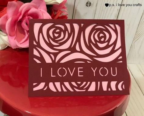 Easy Cricut Valentine Cards - P.S. I Love You Crafts