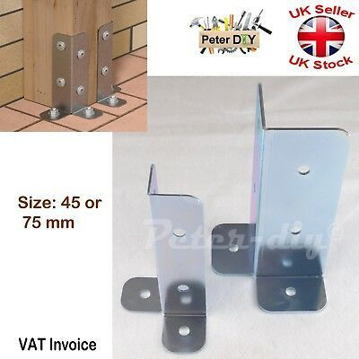 SimTek 24 in Zinc-Plated Galvanized End Fence Post Surface Mounting Bracket