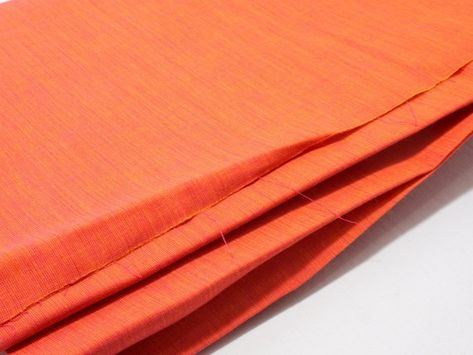 Orange Shot Cotton fabric Hand woven cotton fabric with | Etsy