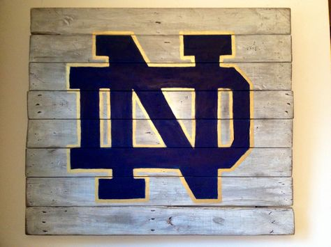 Notre Dame wall hanging. Hand painted on reclaimed wood.