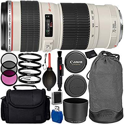 Amazon com : Canon EF 70-200mm f/4L USM Lens Bundle with