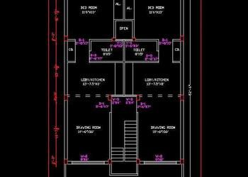 Twin House Space Planning 30 X50 Floor Layout Dwg Free Download Floor Layout Space Planning Cabin House Plans