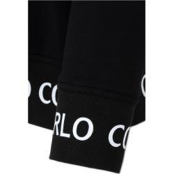 Hoodies & hoodies - Hoodies & Kapuzenpullover Basic hooded sweatshirt with zip, black Carlo ColucciCarlo Colucci -