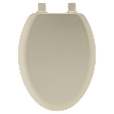 Elongated Molded Wood Seat With Easy Clean Change Hinge Toilet