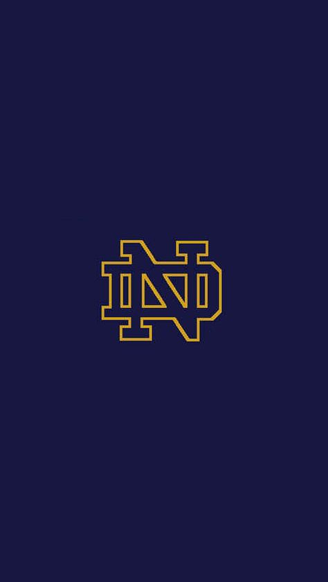 Notre Dame Logo iPhone 5 Wallpaper (640x1136)