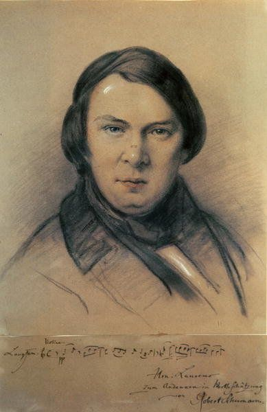 Robert Schumann by Jean-Joseph Bonaventure Laurens | Mine in