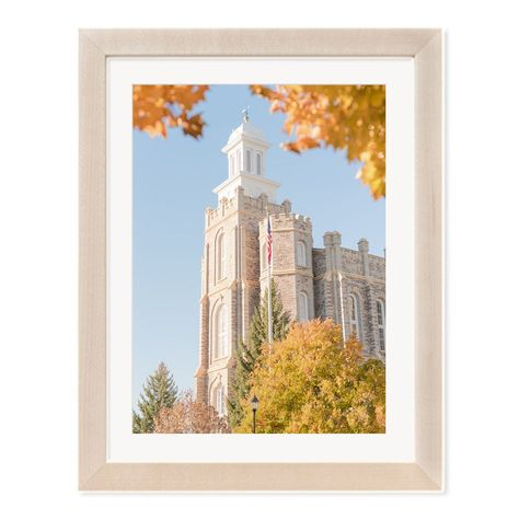 The Logan Utah Temple surrounded by fall leaves. See link for available print options. #utahtemples #ldstemples #ldstemple #logantemple #templephotography #templeart #utahweddings #utahwedding #ldswedding #ldstemplewedding #ldsbride #loganutah #cachevalley