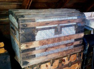 An Old Trunk To Be Fixed Up For Sale Free Shipping Trunks Antique Trunk