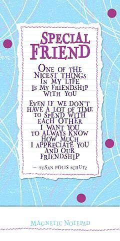 Special Friends by Susan Polis Schutz (NP330) Blue Mountain Arts