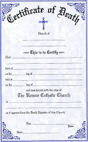 8 best death certificate images on pinterest death certificate fake death certificate yadclub Images