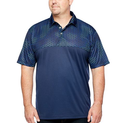 0d3b8cd40ed5 The Foundry Big & Tall Supply Co. Short Sleeve Performance Colorblock Polo  Big and Tall