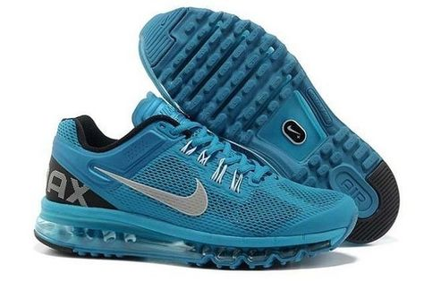 WR038: Dames Loopschoen Nike Air Max 2013 Zilver Sky