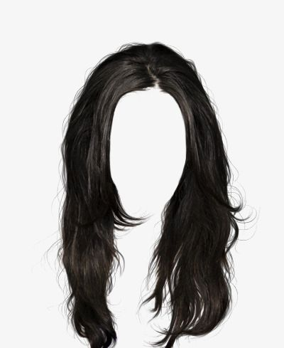 Black Hair Wig To Pull The Material Free Black Hair Wigs Black Hair Boy Hair Illustration