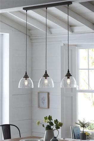 Bergen 3 Light Linear Bar Pendant Lighting Dining Room Kitchen Ceiling Lights Dining Room Ceiling Lights