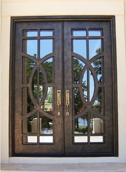 Double Iron Doors Designer And Custom Iron Doors Custom Front Entry Doors Entrance Door Design Iron Doors