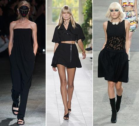 Spring/ Summer 2014 Fashion Trends: All-White vs. All-Black Looks  #2014fashiontrends