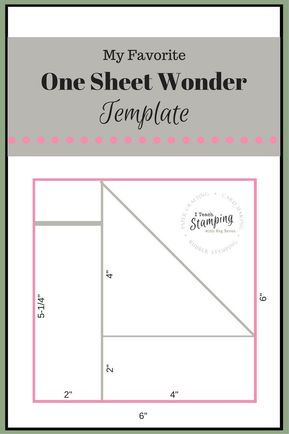One Sheet Wonder Template For Batch Card Making I Teach Stamping One Sheet Wonder Card Making Templates Card Sketches Templates