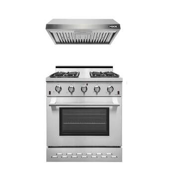 30 4 23 Cu Ft Freestanding Gas Range With Convection Oven Range Hood Gas Range Oven Range Hood
