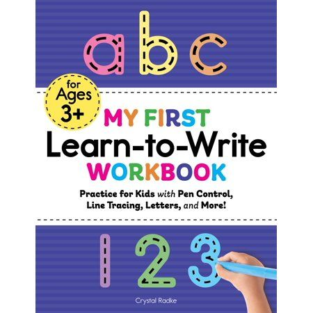 My First Learn To Write Workbook Practice For Kids With Pen Control Line Tracing Letters And Mor Walmart Com In 2021 Learning To Write Book Activities Writing Comprehension