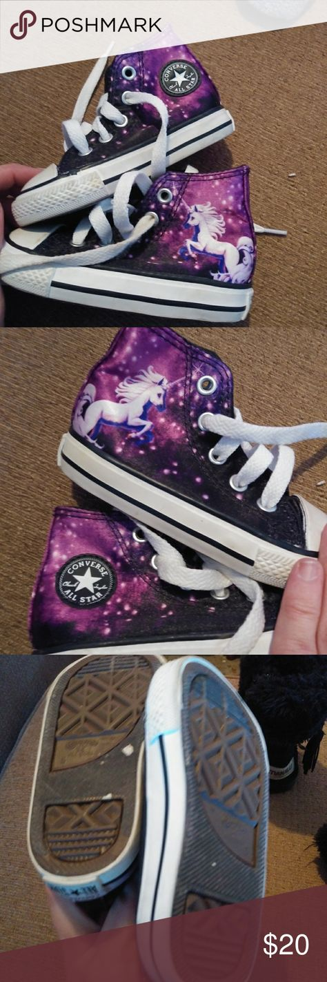 228b3003ab83fa Converse girls 5 Unicorn and Galaxy high tops EUC Converse Excellent  condition Worn once Orig 45