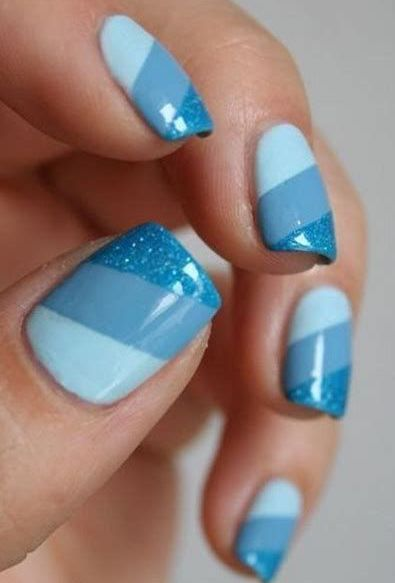 Awesome Nail Art Design With Blue Colors Blue Nail Art Designs Simple Nails Nail Designs