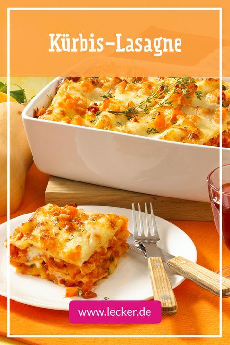 Kürbis-Lasagne - schmeckt uns noch besser, als Lasagne Bolognese! #Kürbis #Rezept