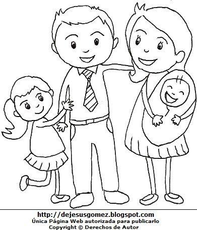 Familia Padres Con Sus Hijos Familia Para Dibujar Imagenes De Familia Dibujos