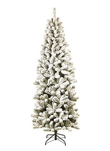 King Of Christmas 8 Foot Prince Flock Pencil Artificial C
