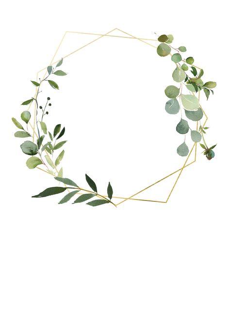 Geometric Eucalyptus photo - Baptism & Christening Invitation Template | Greetings Island