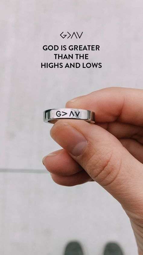 G = God  = Is Greater Than the ^ = Highs v = Lows