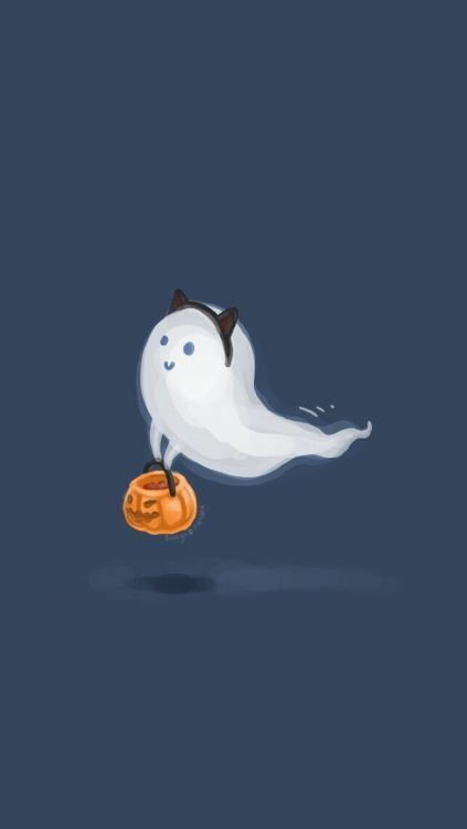 Ghost Trick Or Treat Jack O Lantern Lock Screen Wallpaper Background For Androi Halloween Halloween Wallpaper Halloween Wallpaper Iphone Cute Fall Wallpaper