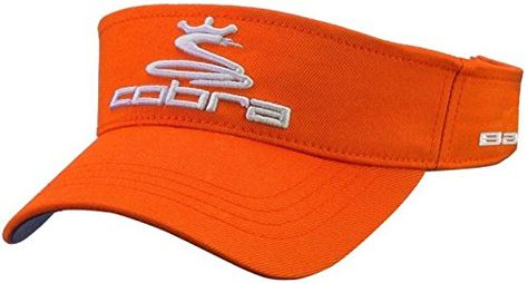 d34fc754 UK Golf Gear - Cobra Pro Tour Mens Golf Visor - Orange