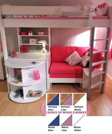 Bed With Desk Bed With Desk And Sofa Underneath Loft Bed Couch Bunk Bed Over Futon Bunk Bed Couch I Bed With Desk Underneath Bunk Bed With Desk Cool Kids Rooms