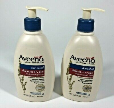 Details About 2 Aveeno Active Naturals Diabetics Dry Skin Relief