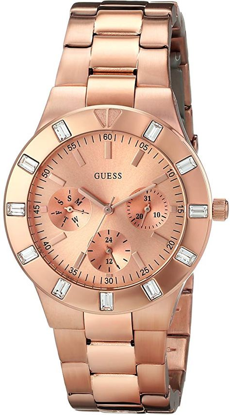 Looking for GUESS Women's Feminine Hi-Shine Rose Gold-Tone Mid-Size Watch ? Check out our picks for the GUESS Women's Feminine Hi-Shine Rose Gold-Tone Mid-Size Watch from the popular stores - all in one.