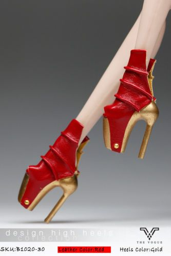 RED HIGH-HEEL SHOES FOR BARBIE