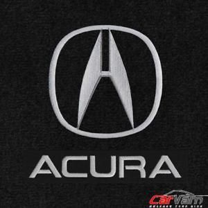 A Lloyd Mats Velourtex Black 4pc Floor Mats For Acura Tl 1995 2014 Acura Acura Integra Logos