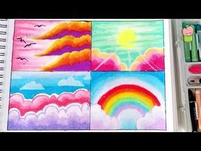 Cara Menggambar Dan Mewarnai Langit Dan Pelangi How To Draw And Color Sky And Rainbow Oil Pastel Youtube Di 2021 Langit Seni Krayon Gambar